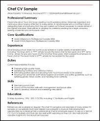 cv second de cuisine chef cv sle marvelous resume sle for chef free career resume
