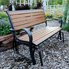 Lifetime Patio Furniture by Lifetime Wood Alternative Glider Bench Outdoor Patio Brown Free