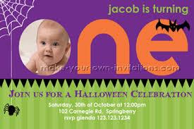 first birthday halloween invitations we design you print