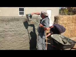 straw bale wall stucco youtube