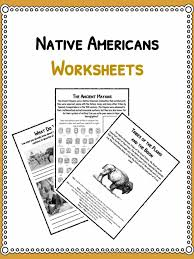 native american history facts u0026 worksheets pdf lesson resources