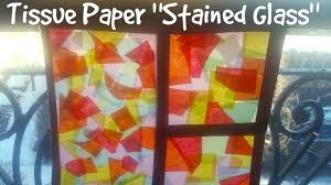 easy craft ideas how to make stained glass with tissue paper
