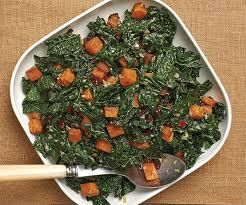 butternut squash with kale and dried cranberries recipe finecooking