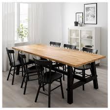 norraryd skogsta table and 6 chairs acacia black 235x100 cm ikea