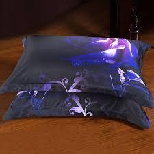 amazon com alicemall king size 3d flower purple bedding set big
