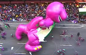 barney died a at the 1997 macy s thanksgiving day parade