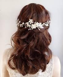 bridal hair flowers fashion women wedding hair pins pearl flower bridal