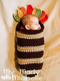crochet turkey cocoon for newborn or 0 3 month babies photog