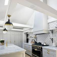 White And Gray Kitchen Cabinets by Benjamin Moore Smoke Embers Design Ideas