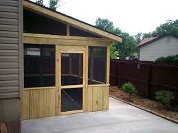 wooden screen porch doors