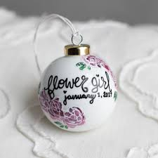 flower girl christmas ornament flower girl gift ornament custom flower girl
