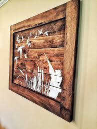 Duck Home Decor Duck Handpainted Wood Sign On Reclaimed Wood Stained And