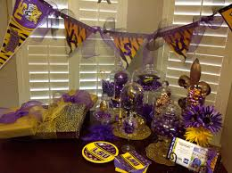 lsu table decorations geaux tigers lsu tailgate
