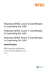 Entry3 by Btec Learning For Life Pearson Qualifications