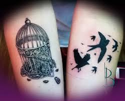 bird tattoo on arm 45 best cage tattoos