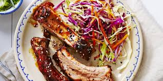 slow cooked teriyaki ribs