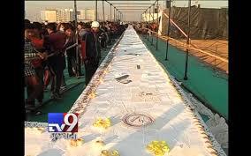 surat fans bake 400 feet cake for salman u0027s 50th birthday tv9