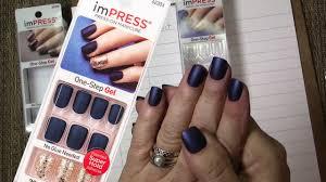 impress press on nails matte blue manicure bells u0026 whistles youtube