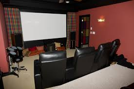 home theater with projector and screen decorating ideas
