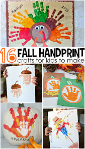 Fun Fall Kids Crafts - fall handprint craft ideas for kids crafty morning
