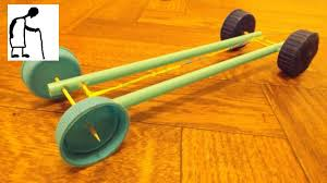 rubber band powered car 4 toothpicks 2 straws 4 bottle caps youtube