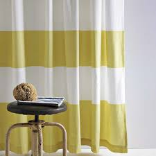 Yellow And White Shower Curtain Stripe Shower Curtain West Elm