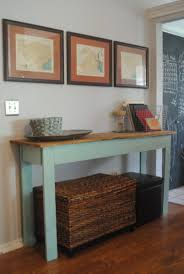 Entryway Console Table With Storage Furniture Diy Painted Reclaimed Wood Long Narrow Entryway Console