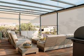 Wind Screens For Decks by Exterior Patio Shades Block The Sun Not The View