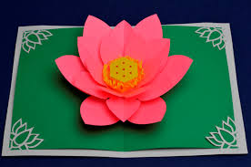 mother u0027s day lotus flower pop up card creative pop up cards