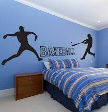 Sports Decals For Kids Rooms by Baseball Wall Decal Set Sticker Kids Room Sports