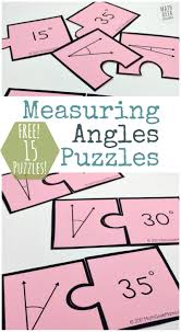 measuring angles activity simple and fun puzzle set free
