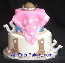 fondant horse lovers birthday cake with cowgirl hat boots pink