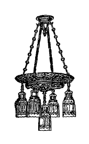 antique images digital image transfer of ceiling light clip art