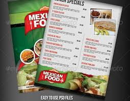 flyer menu template mexican restaurant flyer search design concepts
