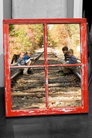 Picture Frames Made From Old Barn Wood Old Vintage Window Including Your Photo Distressed Chalk Paint