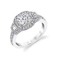 bezel set engagement ring karoline cushion cut bezel set engagement ring s1317 sylvie