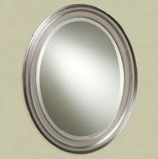 fresh awesome oval brushed nickel mirror for bathroo 20732
