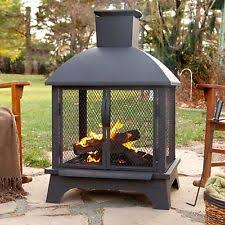 Chiminea San Diego Outdoor Patio Fireplace Wood Burning Fire Pit Chiminea Deck