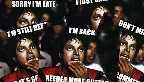 Jackson Meme - mj popcorn memes i m just here for comments