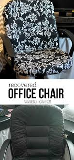 Recover Chair She S Crafty How To Recover A Boring Office Chair