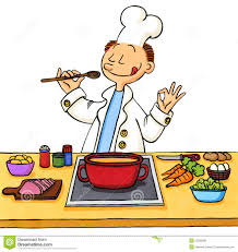cuisine illustration of a cook in the kitchen stock illustration illustration