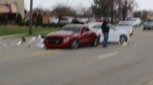 mustangs cars pictures mustang crashes leaving cars and coffee chicago
