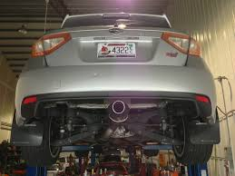 custom subaru hatchback custom center exit 3