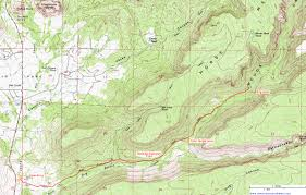 Topography Map Topographic Map Of The Woods Canyon Trail Sedona Arizona