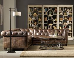 Chesterfield Leather Sofa by Mahogany And More Sectionals Dark Brown Chesterfield Leather