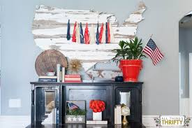 red white and blue patriotic decor all things thrifty