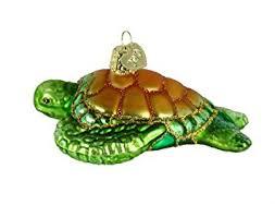 world green sea turtle glass blown