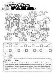 english teaching worksheets the farm
