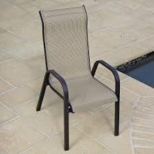 Sling Back Patio Chairs Amazing Of High Back Patio Chair Stacking Patio Chairs High Back