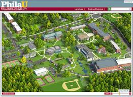Washington University Campus Map by Philadelphia University Campus Map Philadelphia University